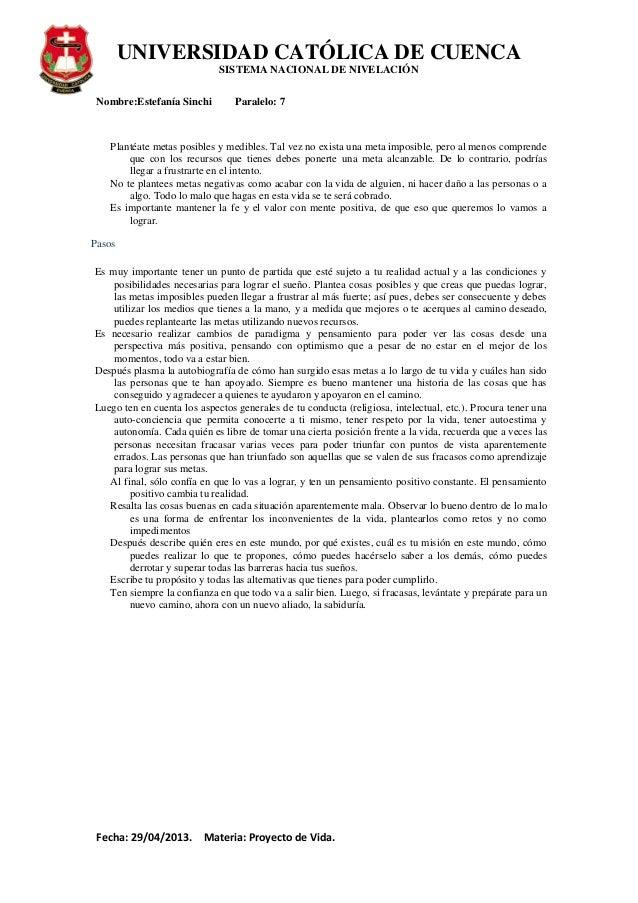 PROYECTO DE VIDA Slide 2