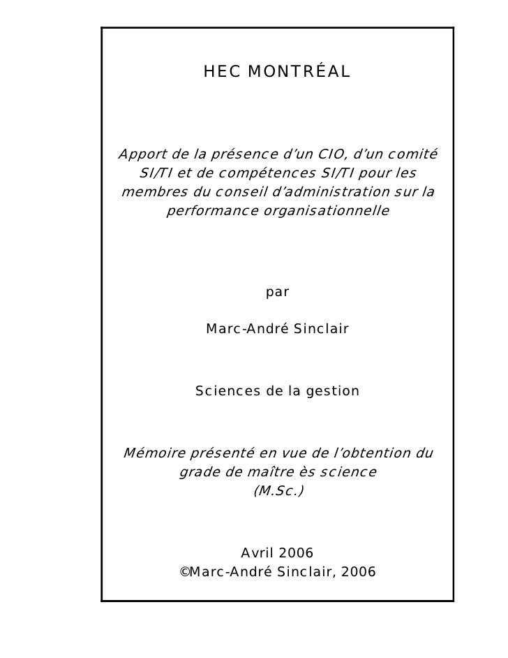 Board of directors for performing firm (French) - Master Thesis