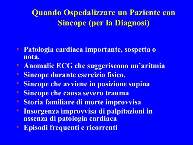 Sincope. Dott. Mauro Zanocchi