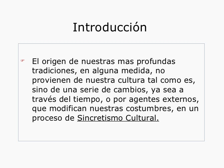 Sincretismo cultural for Introduccion a la gastronomia pdf