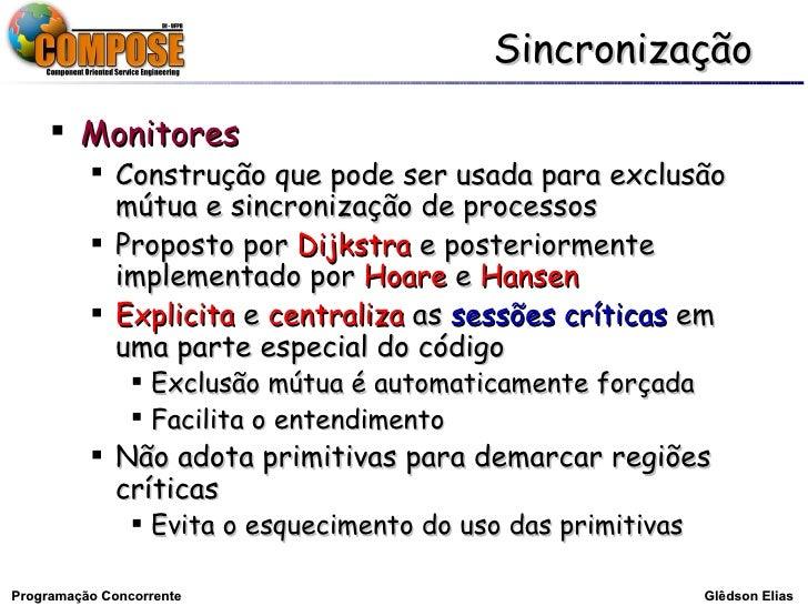 Sincronização - Glêdson Elias Slide 2