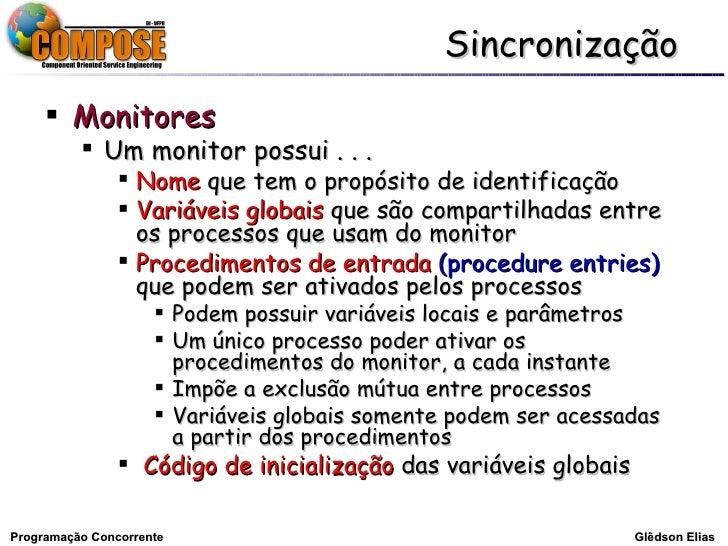 Sincronização - Glêdson Elias Slide 3