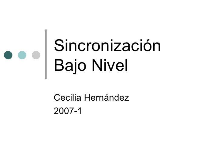 Sincronización Bajo Nivel Cecilia Hernández 2007-1