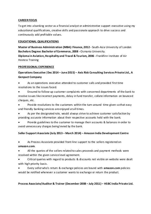 CAREER FOCUS ...  Career Focus For Resume
