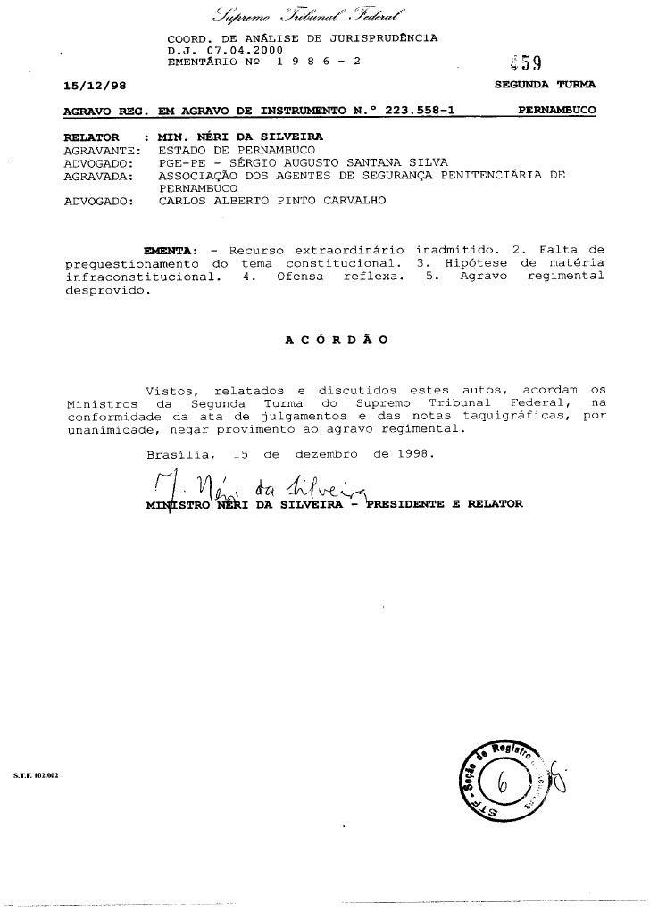 (1)Acórdãoe223558EmentaAI-AgR