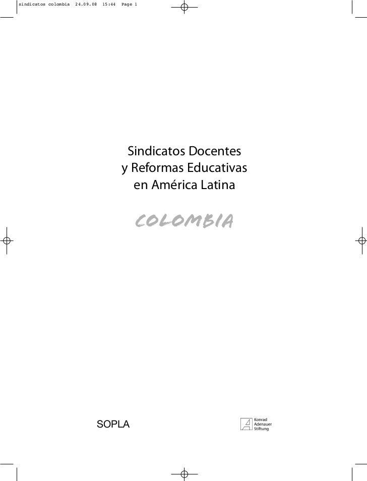 sindicatos colombia   24.09.08   15:44   Page 1                                          Sindicatos Docentes              ...