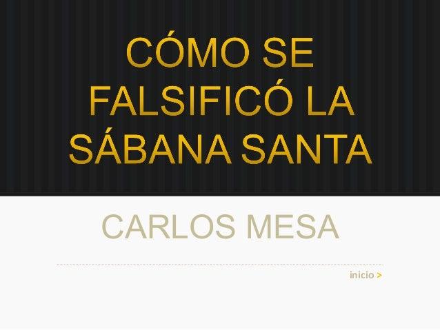 CARLOS MESA inicio >