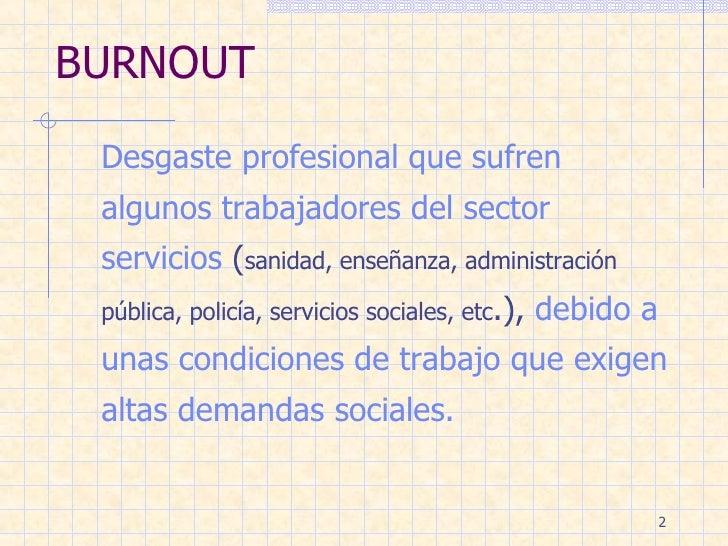 Sindrome De Burnout Slide 2
