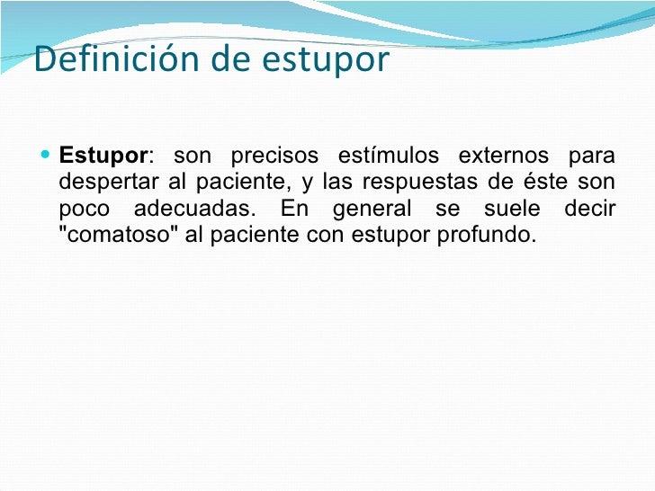 ESTUPOR DEFINICION PDF DOWNLOAD