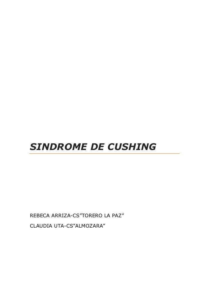 """SINDROME DE CUSHINGREBECA ARRIZA-CS""""TORERO LA PAZ""""CLAUDIA UTA-CS""""ALMOZARA"""""""