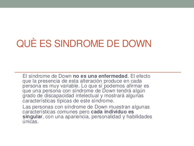 Sindrome de down Slide 2