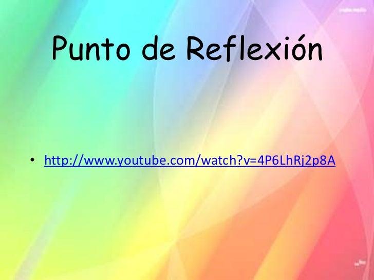 Punto de Reflexión• http://www.youtube.com/watch?v=4P6LhRj2p8A