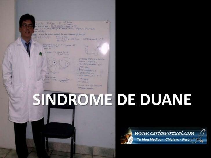 SINDROME DE DUANE<br />