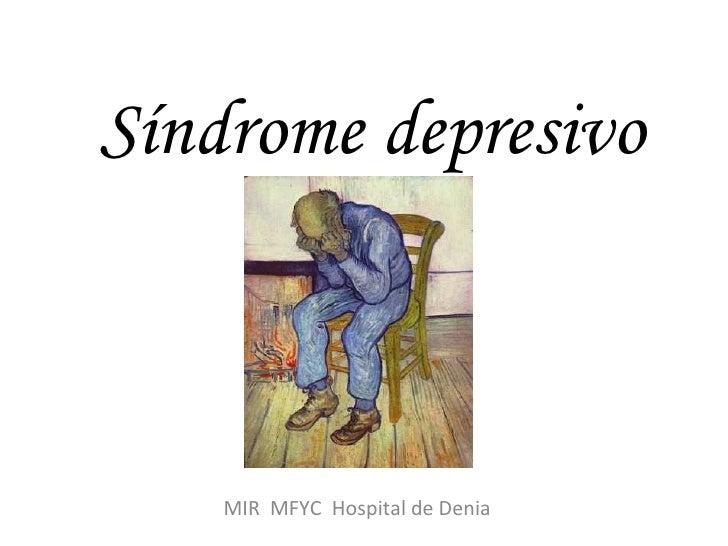 Síndrome depresivo MIR  MFYC  Hospital de Denia