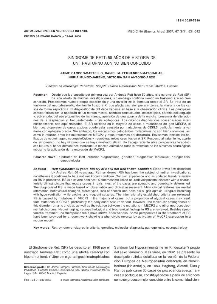 SINDROME DE RETT                                                                                                  ISSN 002...