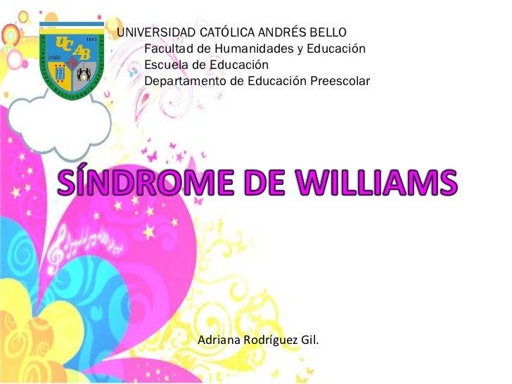 UNIVERSIDAD CATÓLICA ANDRÉS BELLO Facultad de Humanidades y Educación Escuela de Educación Departamento de Educación Prees...
