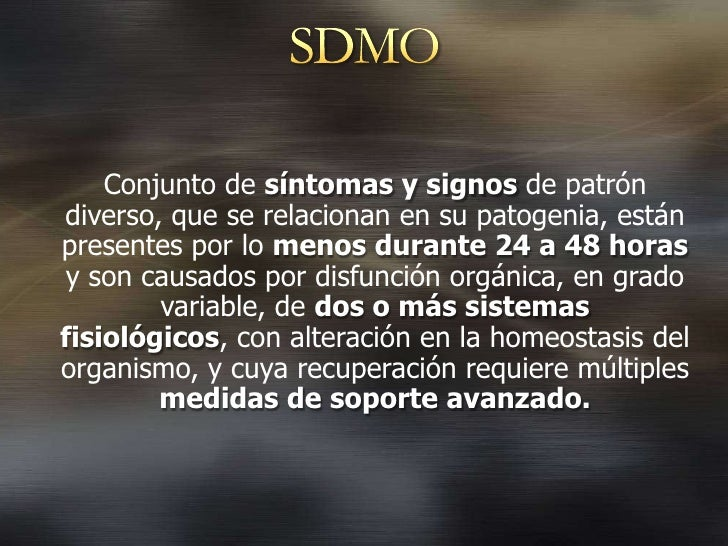 Sindrome disfuncion multiples organos Slide 3