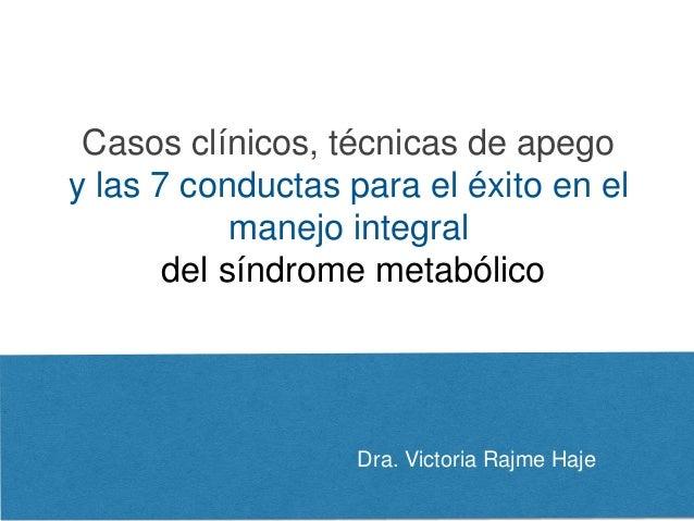 Dra. Victoria Rajme Haje Casos clínicos, técnicas de apego y las 7 conductas para el éxito en el manejo integral del síndr...