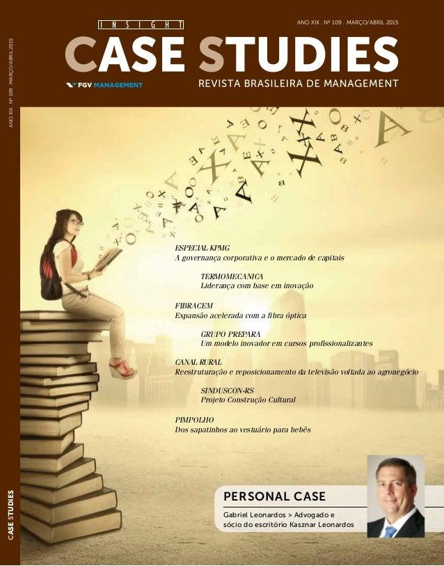 AnoXIX.Nº109.março/abril2015 I N S I G H T CaseStudies especial kpmg A governança corporativa e o mercado de capitais ter...