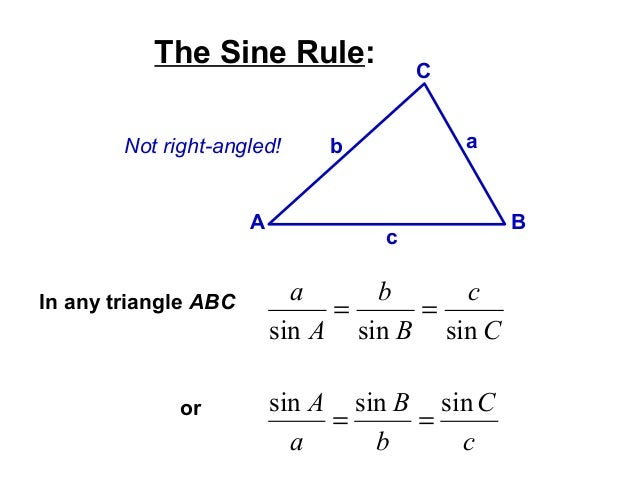Sine and cosine rule – Law of Cosine Worksheet