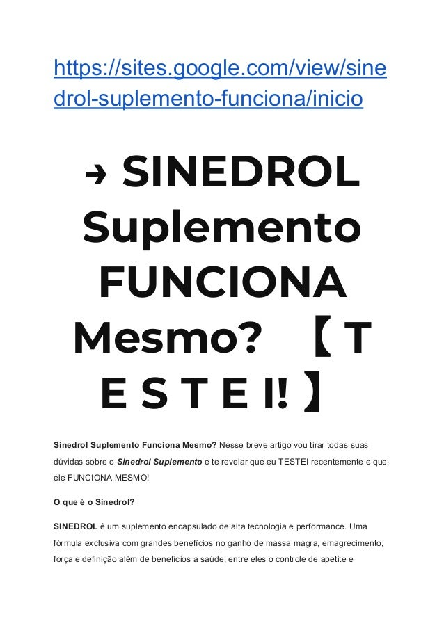 sinedrol riscos