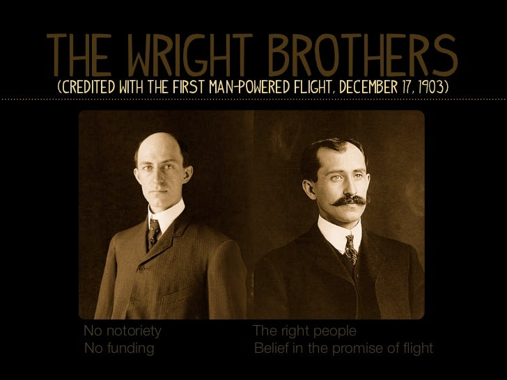 The Wright Brothers(Credited with the First Man-Powered Flight, December 17, 1903)    No notoriety               The right...
