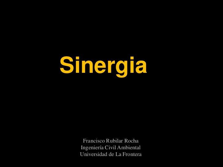 Sinergia  Francisco Rubilar Rocha Ingeniería Civil Ambiental Universidad de La Frontera
