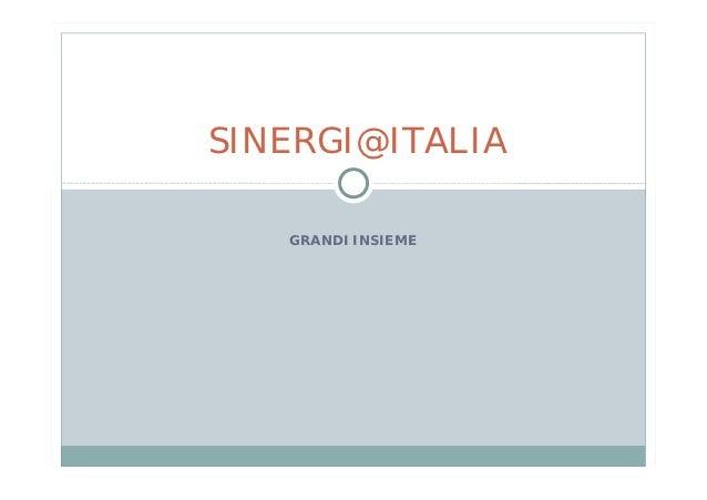SINERGI@ITALIA   GRANDI INSIEME