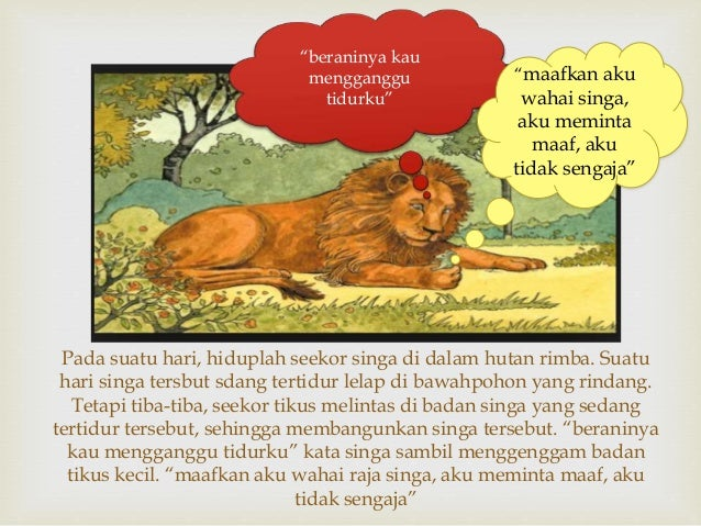 Kisah Inspiratif Tikus Dan Singa