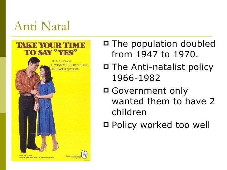 anti natalist policies