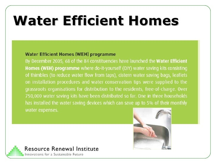 Water Efficient Homes