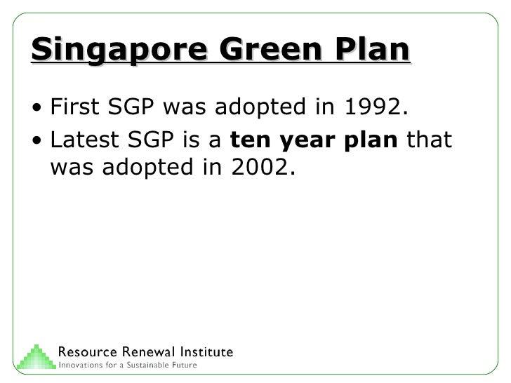 Singapore Green Plan Slide 3