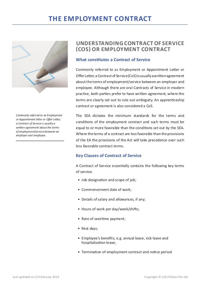 Letter Of Termination Of Employment Singapore