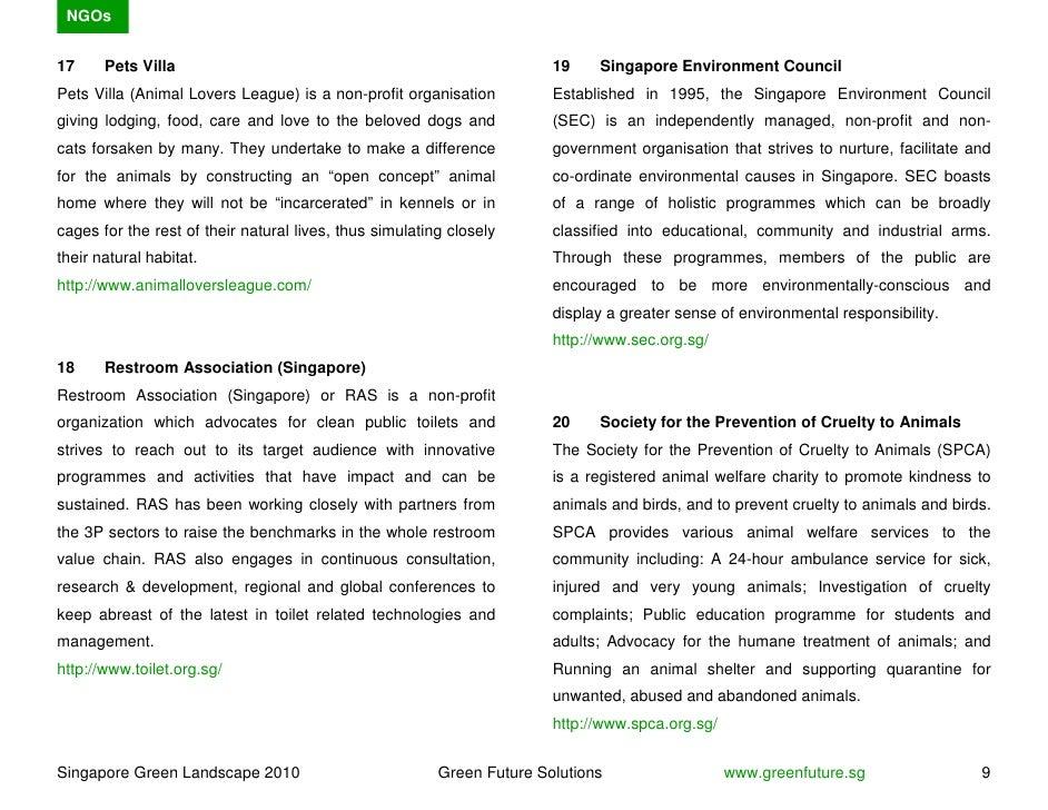 NGOs   17     Pets Villa                                                       19    Singapore Environment Council Pets Vi...