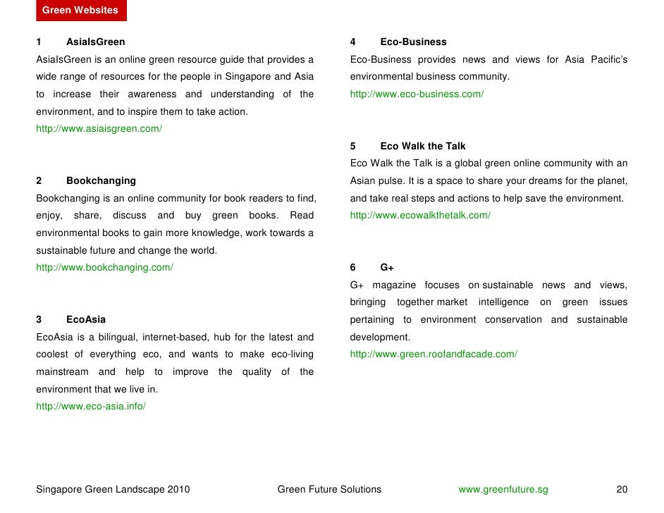 Green Websites   1        AsiaIsGreen                                                   4     Eco-Business AsiaIsGreen is ...