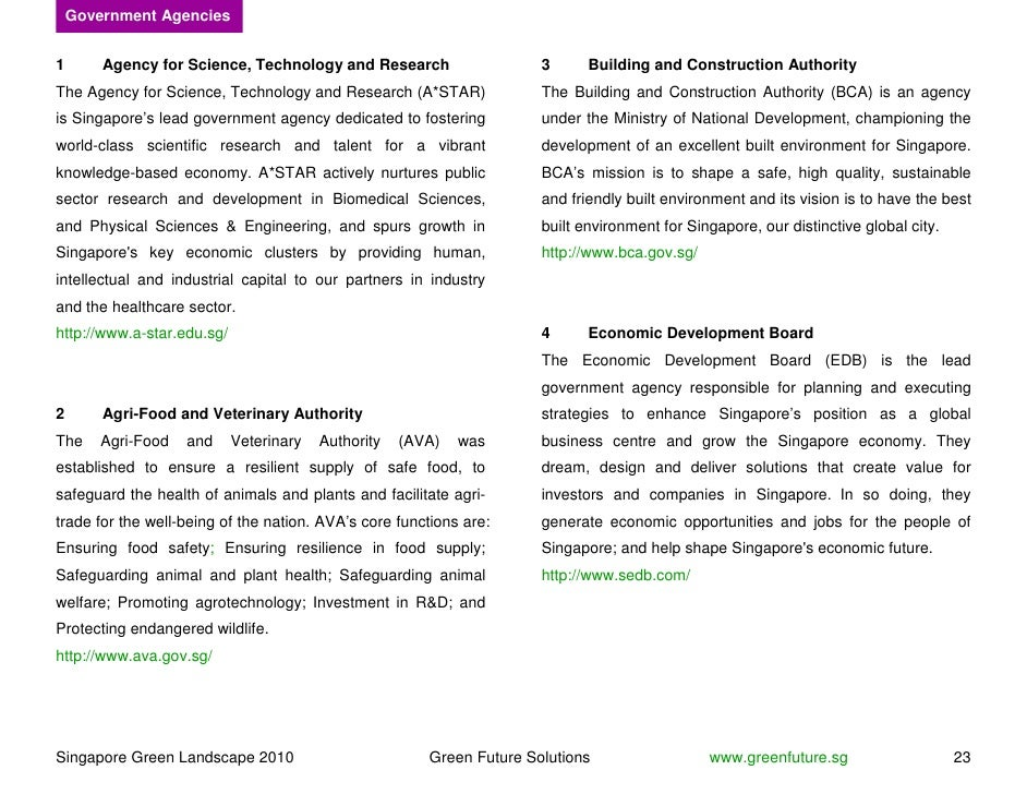 Government Agencies   1       Agency for Science, Technology and Research                    3      Building and Construct...