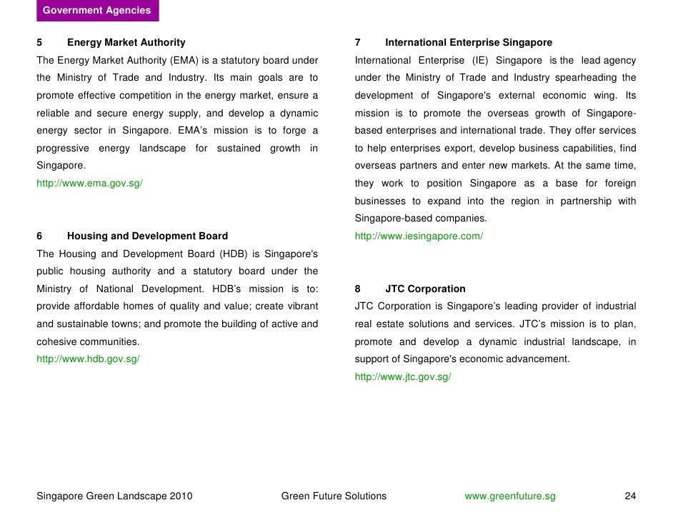 Government Agencies   5       Energy Market Authority                                     7     International Enterprise S...