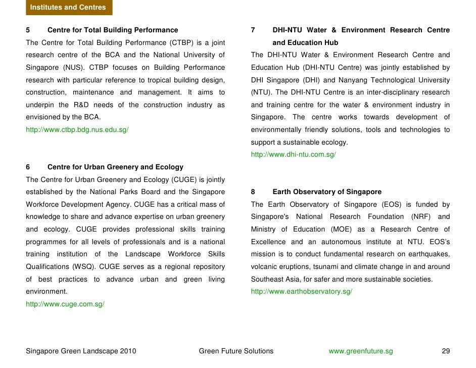 Institutes and Centres   5        Centre for Total Building Performance                         7     DHI-NTU Water & Envi...