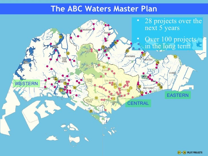 Singapore Managing Stormwater For Water Resource And Flood Control - Singapore map 1990