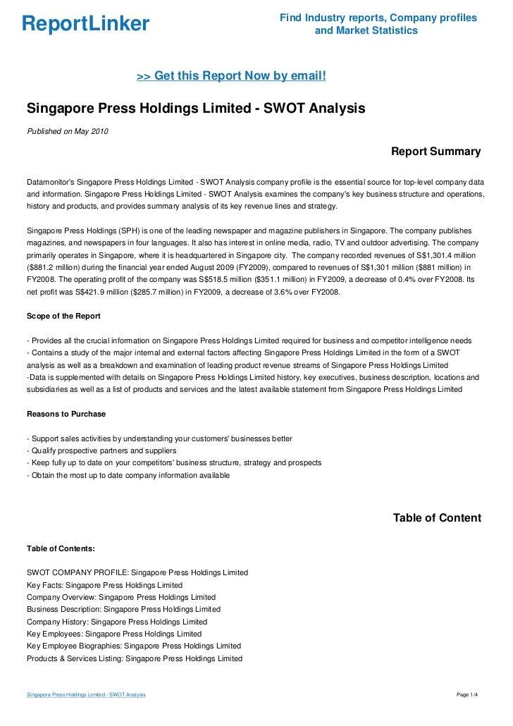 swot singtel Swot analysis for singtel  analysis of singapore telecommunications  limited (singtel) using the swot framework strengths strong.