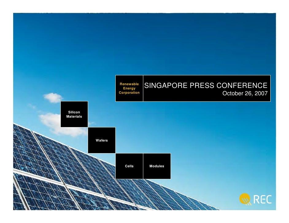 Renewable                                       SINGAPORE PRESS CONFERENCE                         Renewable              ...
