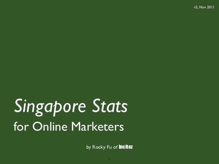 v2, Nov 2011Singapore Statsfor Online Marketers             by Rocky Fu of Incitez                       1