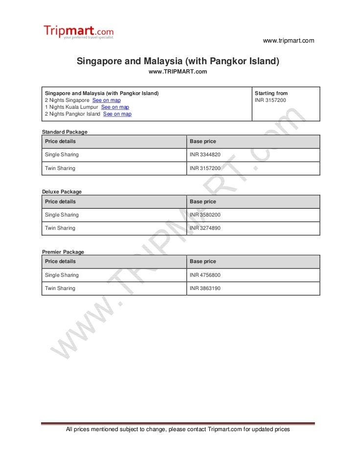 www.tripmart.com                 Singapore and Malaysia (with Pangkor Island)                                         www....
