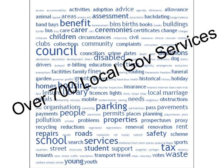 Over 700 Local Gov Services