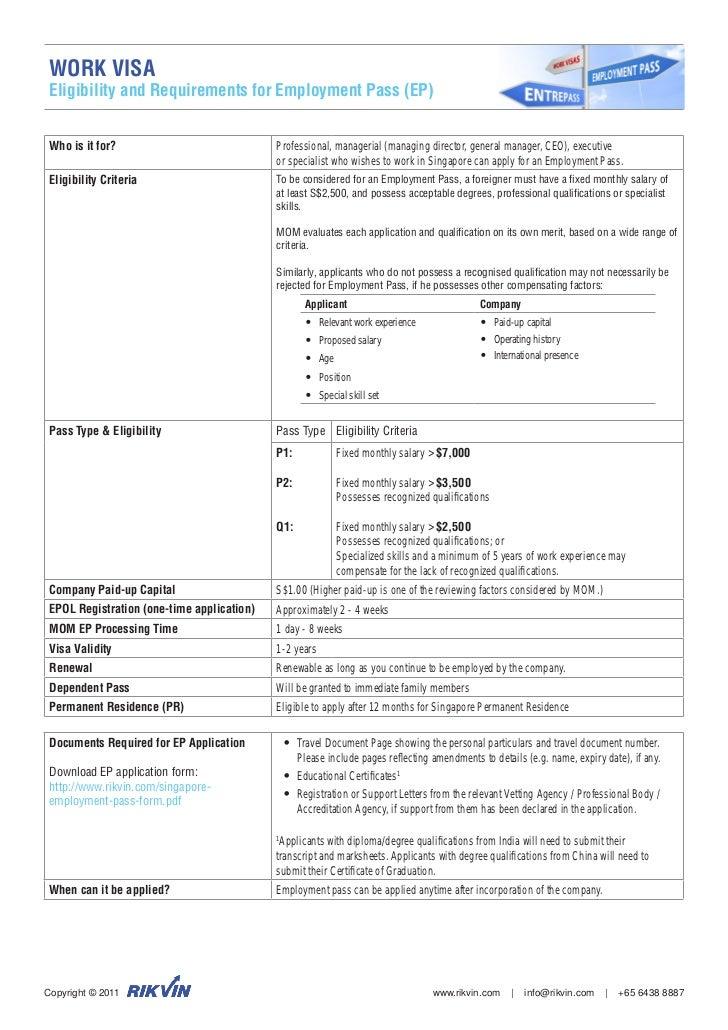singapore-employment-p-work-visa-fact-sheet-1-728 Visa Application Form Singapore Download on malaysia visa application form, guyana visa application form, laos visa application form, kenya visa application form,