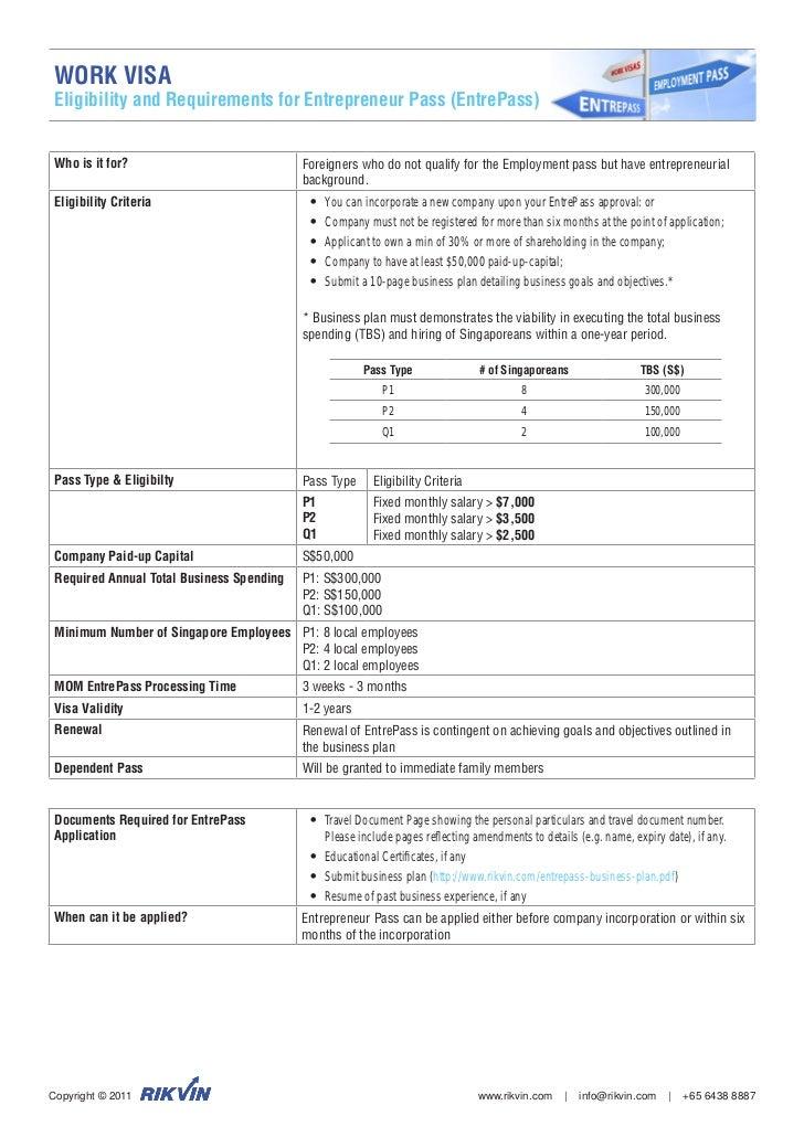 business plan singapore entrepass