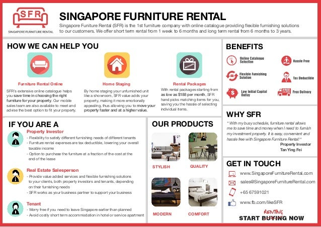 Start Renting Furniture With Singapore Furniture Rental Sfr