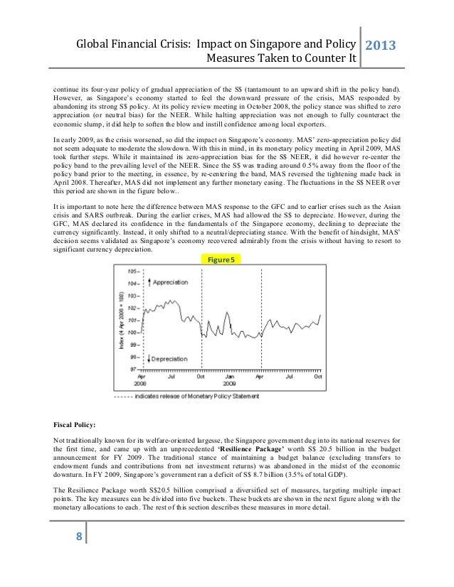 impact of 2008 financial crisis on singapore