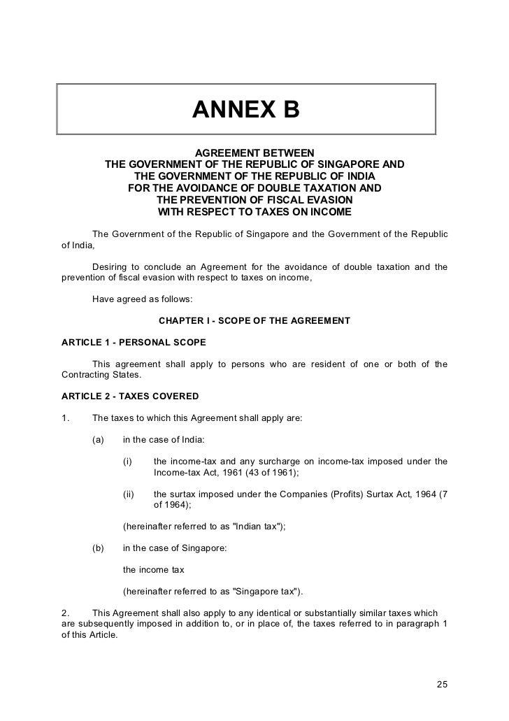 Singapore India Dta Incorporating Protocol 2005