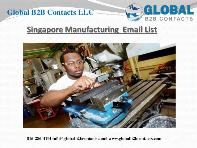 Singapore manufacturing email list